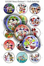 Pre-Cut 1 Inch Circle - Christmas Bottle Cap Images of Your Choice