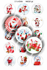 Pre-Cut 1 Inch Circle - More Christmas Bottle Cap Images of Your Choice