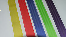 "1 7/8"" Polyester Seat Belt Webbing Red, Blue, Yellow, Lime Green, Purple 30ft."