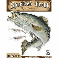 """Sticker Speckled Trout 11"""" x 14"""" Action Decal Salty Bones for indoor outdoor use"""