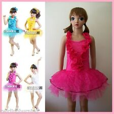 Girls Jazz/Latin/Ballet Dancing Dress Tutu Dance Costume Kids Party Dressup DD01