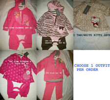 * NWT NEW GIRLS 3PC FIRST IMPRESSIONS SWEATER  WINTER OUTFIT SET 3 3/6 6/9 12 18