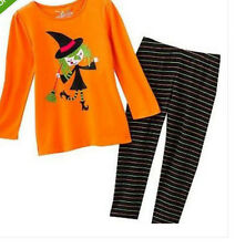 * NEW GIRLS Jumping Beans HALLOWEEN Witch Winter Top & Leggings OUTFIT SET 2