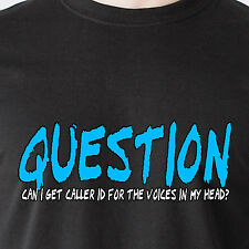 question can i get caller id for the voices in my head? cell retro Funny T-Shirt