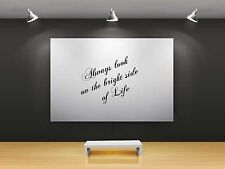 """Saying vinyl wall sticker """"Always look on the bright side of life"""" 35 x 55cm"""