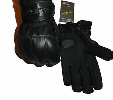 Black Genuine Leather Premium Quality with Lead Shots Kevlar Gloves – Protection
