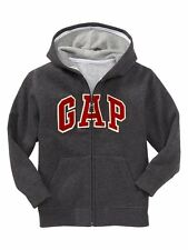 Gap Kids NWT Charcoal Grey Arch Logo Fleece Hoodie 4 5 6 7 8 10 12 14 16