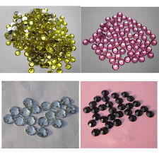 Lots colors Multiple facets Resin 3-6mm Flat Back Rhinestones SS12-SS30
