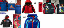 *NEW BOYS SpiderMan Superman Toy Story Car's Mario Jacket COAT 2T 3T 4 5 6 7