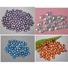 Lots colors Nail art Multiple facets Resin Flat Back Rhinestones 3mm-6mm 02