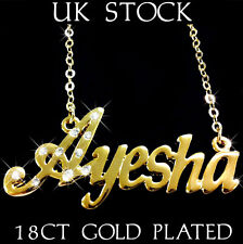 AYESHA NAME NECKLACE 18k Gold Plated Asian/Arabic Personalised Jewellery Gift 4