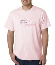 I Wear Pink For My Grandma Breast Cancer Awareness 100% Cotton Tee Shirt