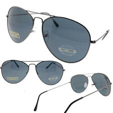 Old School Large Aviator Sunglasses with 55mm Dark Tint Lens Mens or Womens