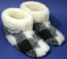 Men's sheep Wool SLIPPERS, Warm boots for cold weather, sheepskin valenki snuggs