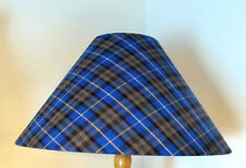 "12"" WIDE COOLIE TAPERED TABLE - CEILING LAMPSHADE IN CHECK TARTAN FABRIC CHOICES"