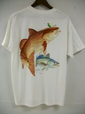 GUY HARVEY REDFISH/SEATROUT T-SHIRT, MTH1204-WH ghtees4u