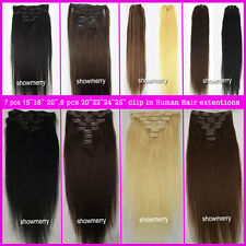 """15""""18""""20""""22""""24""""26""""30"""" 100% Remy Clip In Human Hair Extentions70g-120g ,Wholesale"""