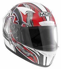 MDS (AGV) M13 BRUSH White/Red Motorcycle Helmet sizes XS-S-M-L-XL cheap £59.99