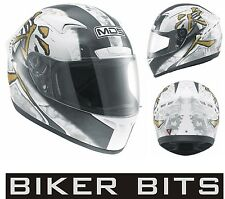 MDS (AGV) M13 RONIN White/Grey Motorcycle/Scooter Helmet XS-S-M-L-XL cheap £59