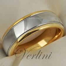 Tungsten Carbide Wedding Band Ring 8mm 14K Gold Mens Bridal Jewelry Size 6-13