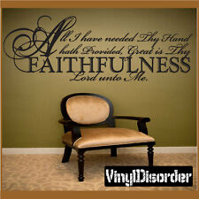 All I have needed thy hand hath Christian Vinyl Wall Decal Quotes C006AllIhaveII