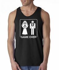 Game Over Wedding Marriage Funny 100% Cotton Tank Top
