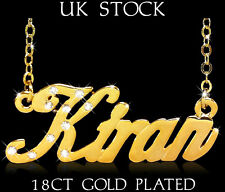 Name Necklaces KIRAN 18ct/18k Gold Plated Personalised Gifts Fashion Jewelery