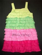 NWT Gymboree FLORAL MERMAID Colorblock Tiered Ruffle Dress Girls Size 5 6 7