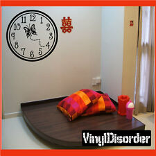 Wall clocks with butterfly butterflies Clock Faces Vinyl Wall Decal Quotes CF005