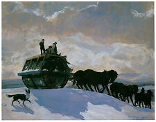 The Road Roller, 1909, Rockwell Kent - Horse Art on Canvas
