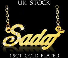 SADAF Name Necklace 18ct Gold Plated Personalised Fashion Jewelry Gift Arabic