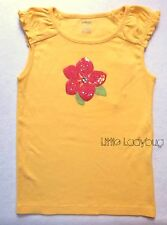NWT Gymboree ALOHA SUNSHINE Yellow Sequined Flower Top Shirt Tee Girls Size 7