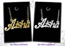Name Necklaces 18ct/18k Gold Plated Arabic Personalised Custom Jewelery Gifts
