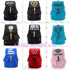 EXO SUPER JUNIOR BIGBANG 2PM G-DRAGON CANVAS SCHOOL BAG BACKPACK KPOP NEW