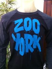 Zoo York Long Sleeve Youth Boys Raglan Black and Blue TShirt NWT Free Shipping