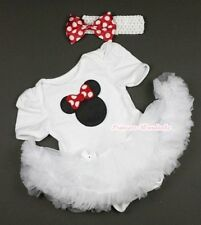 Pure White Jumpsuit Romper Black Minnie Print & White Baby Girl Dress NB-12Month