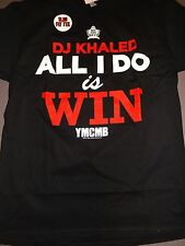 DJ KHALED ALL I DO IS WIN YMCMB T-Shirt **NEW band concert tour Slim Fit