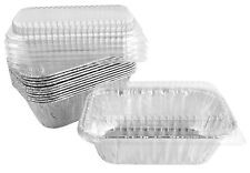Handi-Foil 1 lb. Aluminum Foil Mini-Loaf/Bread Baking Pan w/Clear Low Dome Lid