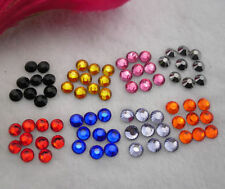 Silver-plated bottom Multiple facets AAA Crystal 3mm Flat Back Rhinestones SS12