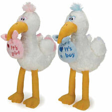 Dog Toy Silly Storks Soft Plush Puppies Welcome Home Squeaker