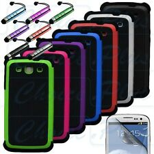 Heavy Duty Dual Layer Hybrid Hard Case Cover for Samsung Galaxy S3 III i9300