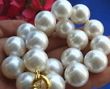 new  8 10 12 14 16 18 20mm south sea White Shell Pearl Necklace AAA