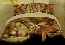 Safari Animal Print Duvet Cover Set Bedding Dolce Mela DM458Q & DM458K Tigers