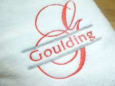 NEW PERSONALISED Quality soft TOWELS - EMBROIDERED with **ANY  NAME** Ideal gift