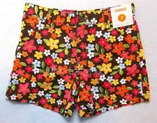 NWT Gymboree ALOHA SUNSHINE Brown Floral Print Flower Shorts Girls Size 7