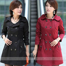 2013 Hot Sell Women's Hooded Double-- breasted Trench Jacket /Coat 2 colors