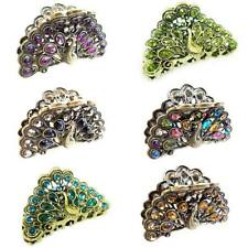 Multiple Select Peacock Multi Color Glitter Crystal Alligator Jaw Hair Clip Claw