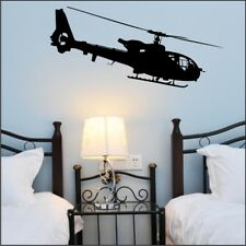 MILITARY HELICOPTER wall decal bedroom boys decorative wall sticker