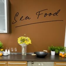 SEA FOOD kitchen cafe home quote wall art stickers transfers vinyl stickers