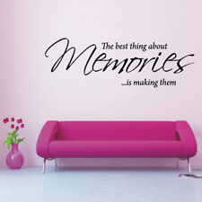 MEMORIES wall decal quote living room bedroom vinyl large wall sticker